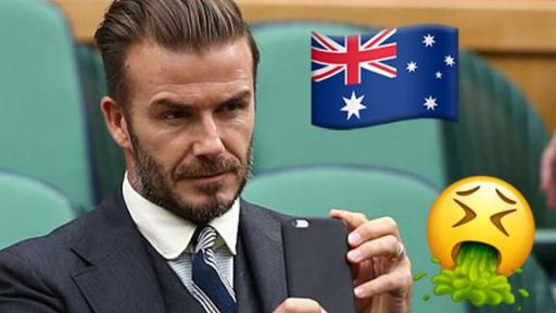 Did You Spot The Aussie Vomiting In David Beckham's IG Story?