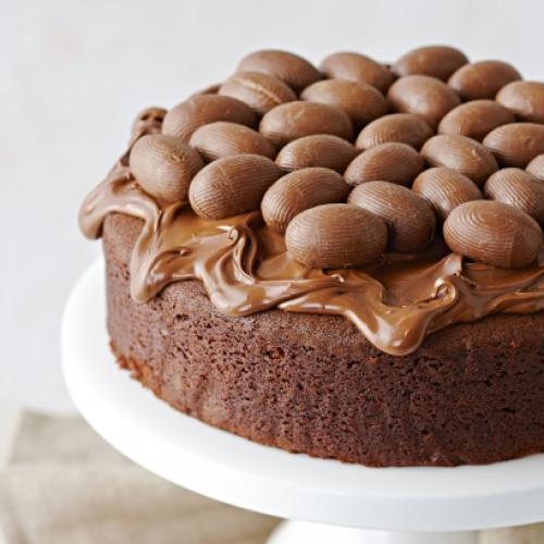 Easter Egg Chocolate Hazelnut Cake