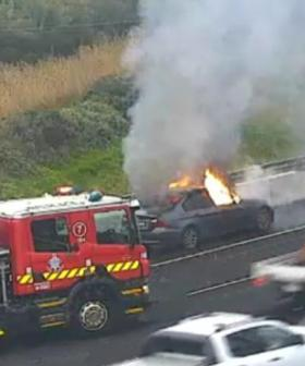 Car Fire On Major Melbourne Freeway Causing Peak Hour Drama