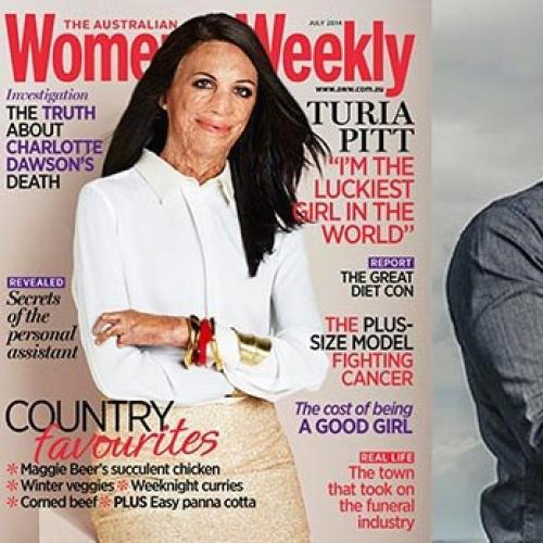 Turia Pitt's Gorgeous Women's Weekly Cover