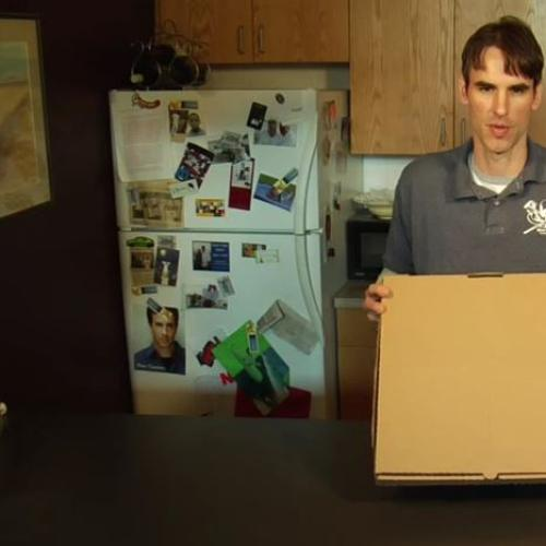 The revolutionary pizza box