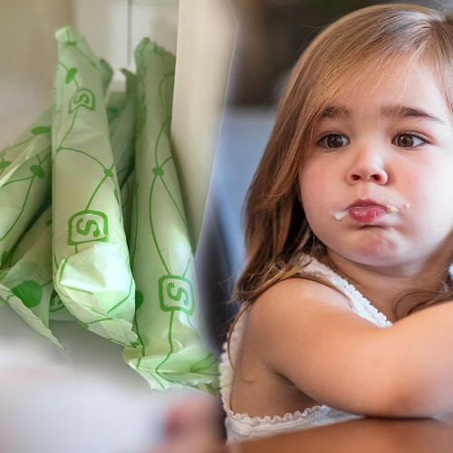 Little Girl Mistakes Tampon For Chocolate Bar