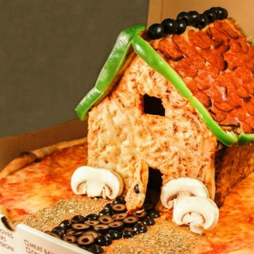 Gingerbread Houses Made Of Pizza Are Actually A Thing!