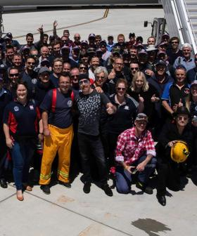 U2 Delays Flight To Stop And Personally Thank Melbourne Firefighters