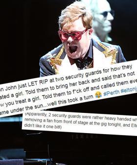 Elton John Stops Gig To Unleash Tirade On Security Guards Removing Fan