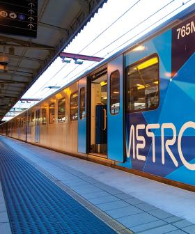 Melbourne's Overnight Rain Causes Major Dramas As Train Station Is Forced To Shut