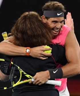 Hero Firefighter Joins Rafael Nadal During Epic Doubles Match For Relief Event