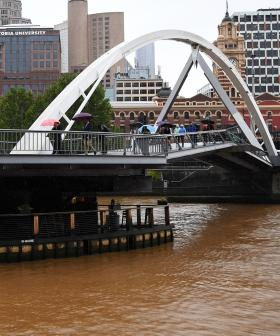 The Yarra River Has Turned Bright Brown Thanks To Last Night's Dust Storm