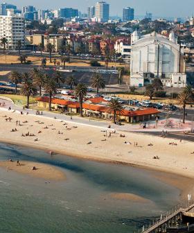 Crowds Take To St Kilda Beach To Sunbathe, Ignoring Government Regulations