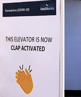 Will Kyle fall for this CLAP-ACTIVATED ELEVATOR sign? 😂👏