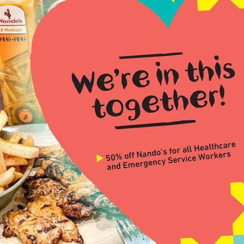 Nando's Have Made An Incredible Gesture To Healthcare & Emergency Service Workers