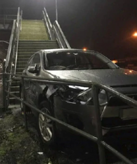 Allegedly Intoxicated Woman Manages To Drive Her Car Over A Melbourne Train Station Overpass