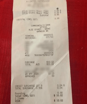 ALDI Faces Backlash After Customer Finds Odd Surcharge On Her Receipt During Pandemic