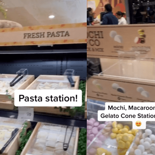 A Coles Which Has A Dessert Station, Pasta Bar & Orange Juice Machine Now Exists