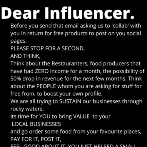 Patisserie Calls Out Influencers Who Are Asking For Free Stuff While They Try To Sustain Their Business