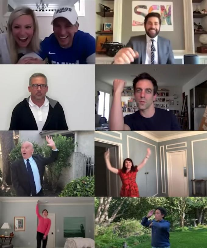 The Entire Cast Of 'The Office' Reunited To Virtually Re