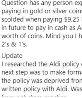 Woman Sparks Debate After She Tries To Pay For Her Groceries In Coins At Aldi