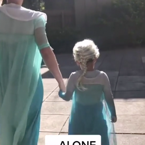 Aussie Dad Is Applauded For Wearing A Matching Elsa Costume With His Son To The Cinema
