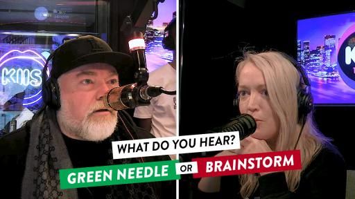 GREEN NEEDLE or BRAINSTORM - What do you hear?