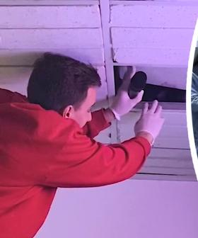 PRANK: Fake corpse hidden in the roof! 😱
