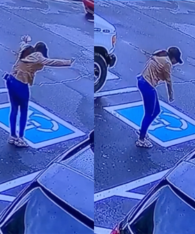 Women's Reaction To Job Offer Goes Viral After Being Caught On Security Camera