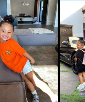 Stormi Webster Takes Backpack Worth More Than $10k To First Day Of (Home) School