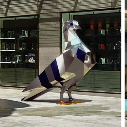 This Aussie Mall Has A New Sculpture...And It's A $174,000 Giant Pigeon