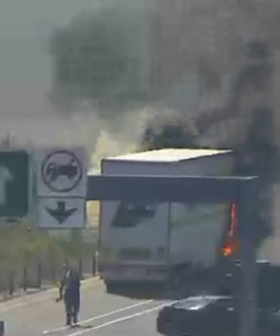 Massive Truck Fire On Eastern Freeway Causes Major Delays