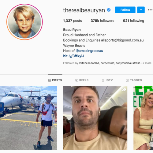 Beau Ryan Spills The Beans On How Much He Gets Paid For His Instagram Sponsored Ads