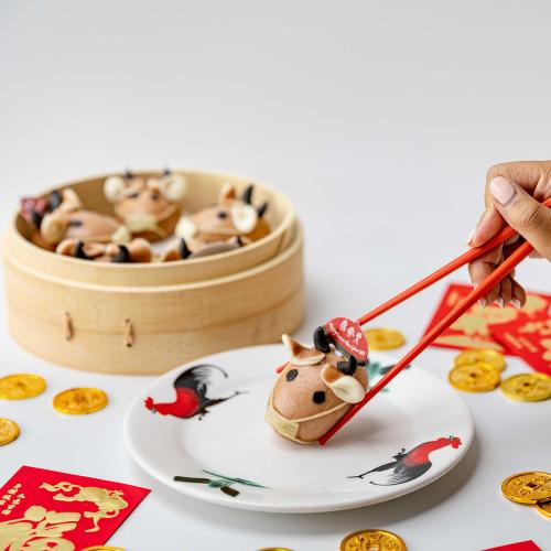 Din Tai Fung Celebrates Lunar New Year With Cute Mask Wearing Ox-Shaped Chocolate Buns!