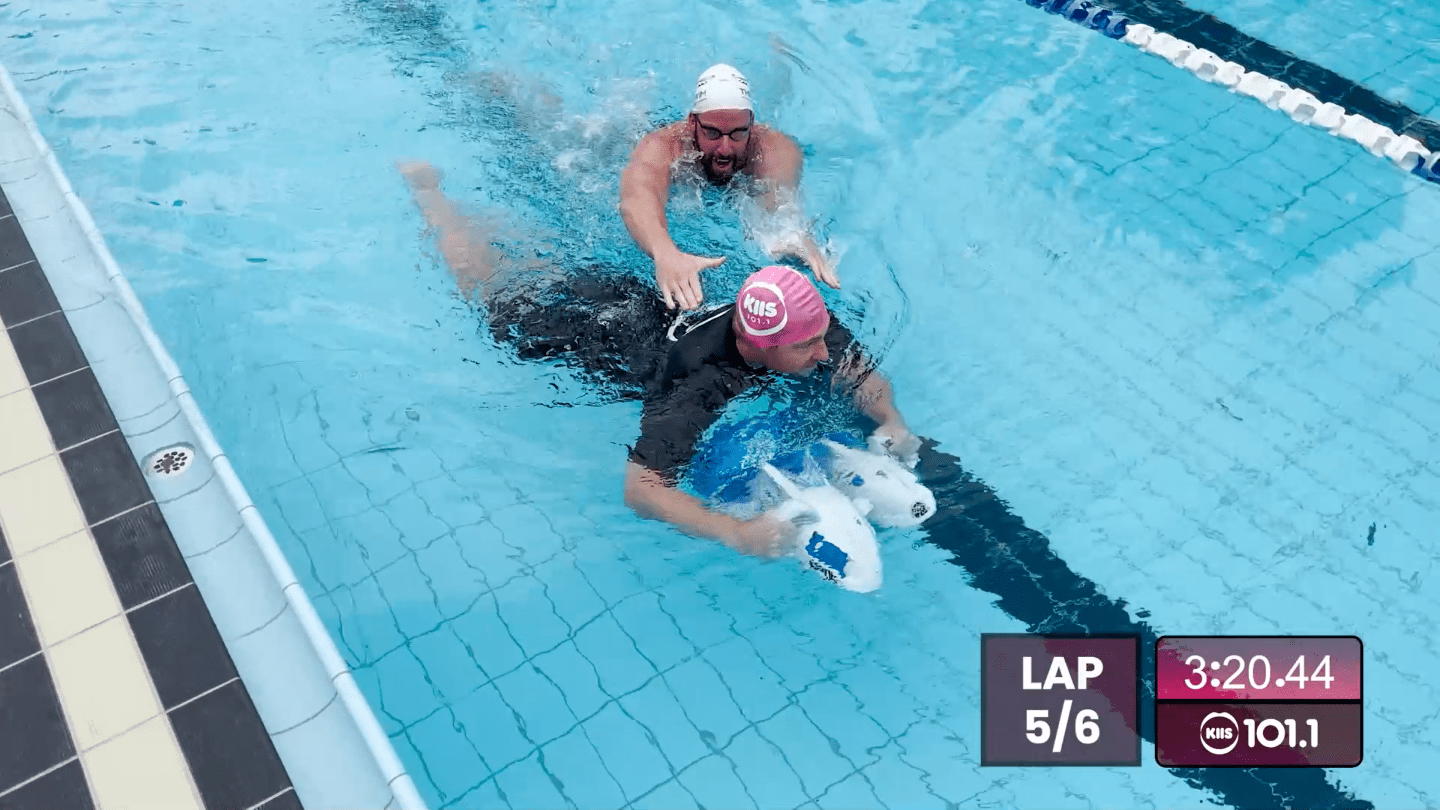 Jase & PJ take on James Magnussen in the Ultimate Swimming Race!