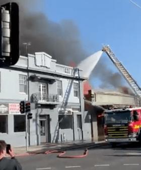 Firefighters Battle Massive Blaze Next To Preston Hotel