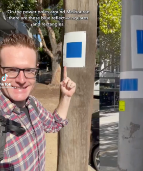 This Is The Genius Reason Why Melbourne's Power Poles Are Covered In Blue Squares