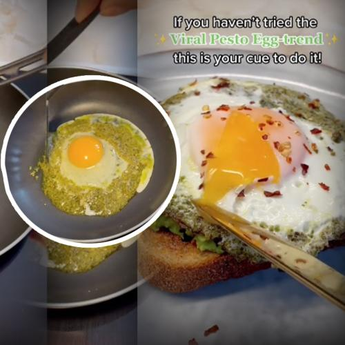 Have You Tried The Viral TikTok Food Trend Artfully Dubbed 'Pesto Eggs'?