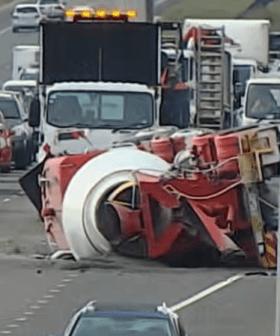 Truck Rollover Causes Commuter Delays On Peninsula Link