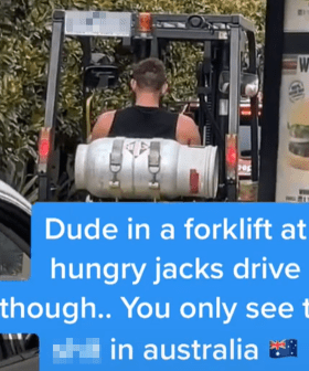 Bloke Spotted Driving Forklift In Hungry Jack's Drive Thru Because...Lockdown