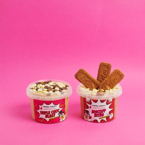 Chargrill Charlie's & Dessert Queen Anna Polyviou Have Collab'd On Tubs Of Biscoff Cookie Dough!
