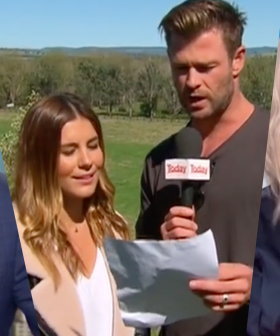 Throwback To The Time Lauren Phillips Got Chris Hemsworth To Read The Weather Live On TV