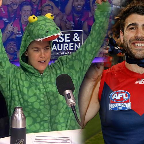 Jase & Lauren celebrate Mad Monday with Christian Petracca