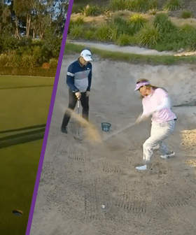"""""""Nailed That"""": Lauren Phillips Learns To Play Golf Live On TV"""