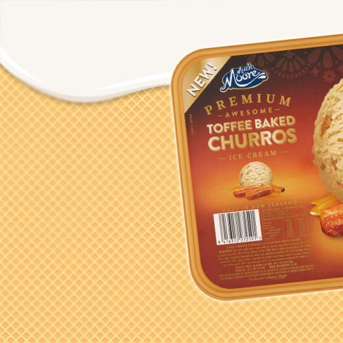 Toffee Baked Churros Flavoured Ice Cream Is Coming To Woolies & We're Ice-Screaming!