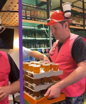 Jase Attempts Carrying 50 Beers From A Richmond Pub To The KIIS Studio