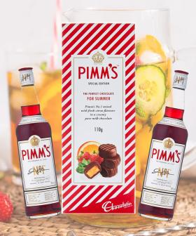 You Can Now Get Pimm's Liqueur Truffle Chocolate AKA A Chocolate Cocktail!